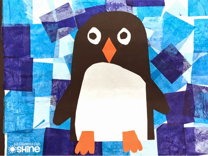 Penguins art project unit all students can shine for Penguin project