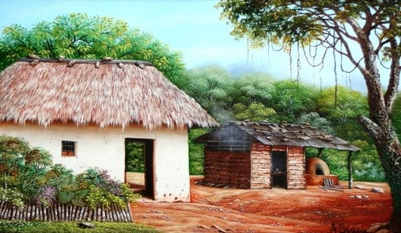Pinturas cuadros lienzos pintura paisajista en colombia - Casas rurales en el campo ...