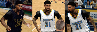 NBA 2K13 Wilson Chandler Cyberface PC Mods
