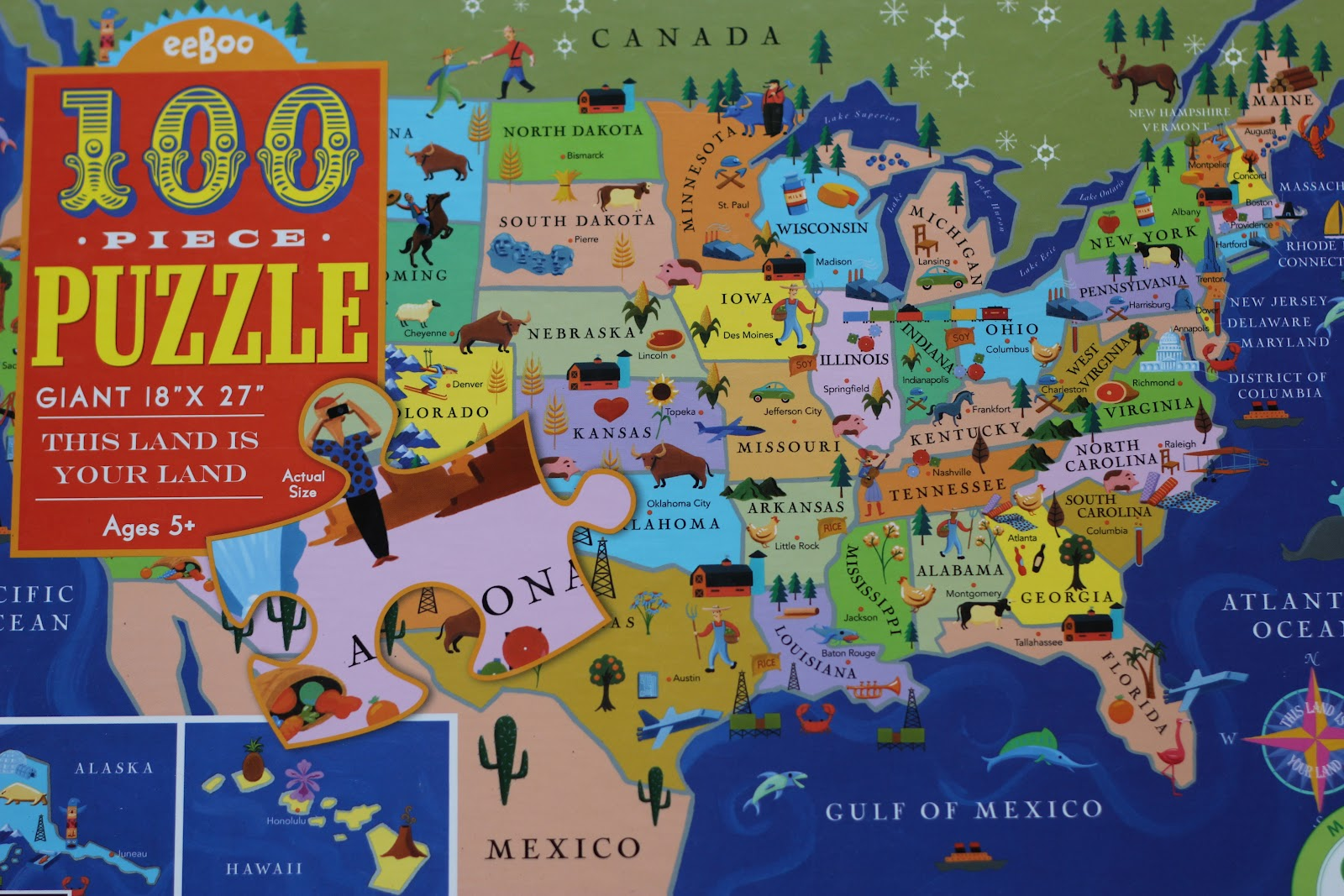 it started as just a project to help me learn the states and where they are located on the map so my mommy bought this puzzle
