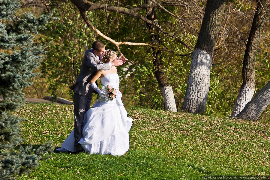 Свадебная фотосессия со стороны