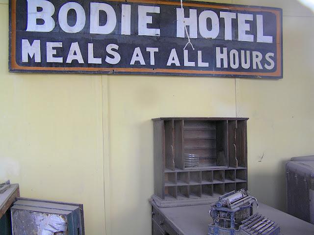 Recepción del Hotel de Bodie