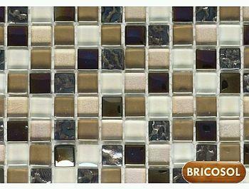 si deseas darle un toque de y naturalidad a tu cuarto de bao este azulejo de mosaico de piedra de color gris es el indicado