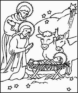 Presépios de Natal para Colorir