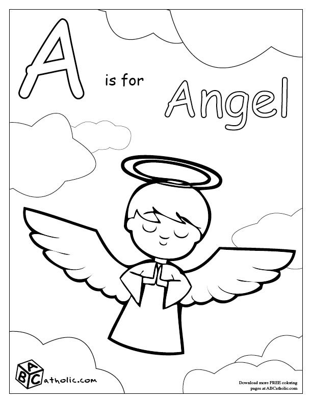 Catholic Alphabet Coloring Pages : Raising teaching little saints catholic
