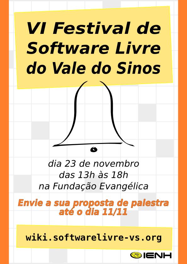 chamada palestrantes iv festival software livre vale dos sinos