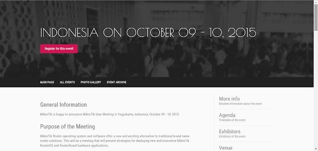 Ikuti Mikrotik User Meeting Yogyakarta - Oktober 2015 – Pusat Pengetahuan