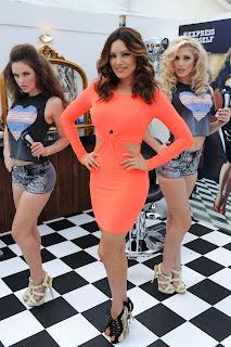Kelly Brook Bright Orange Minidress