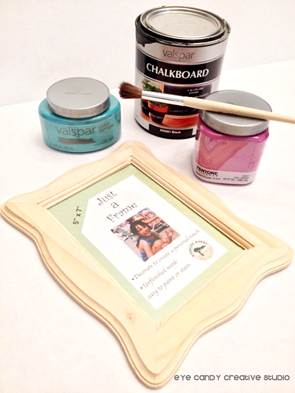supplies needed for magnetic chalkboard frame, JoAnns unfinished frame
