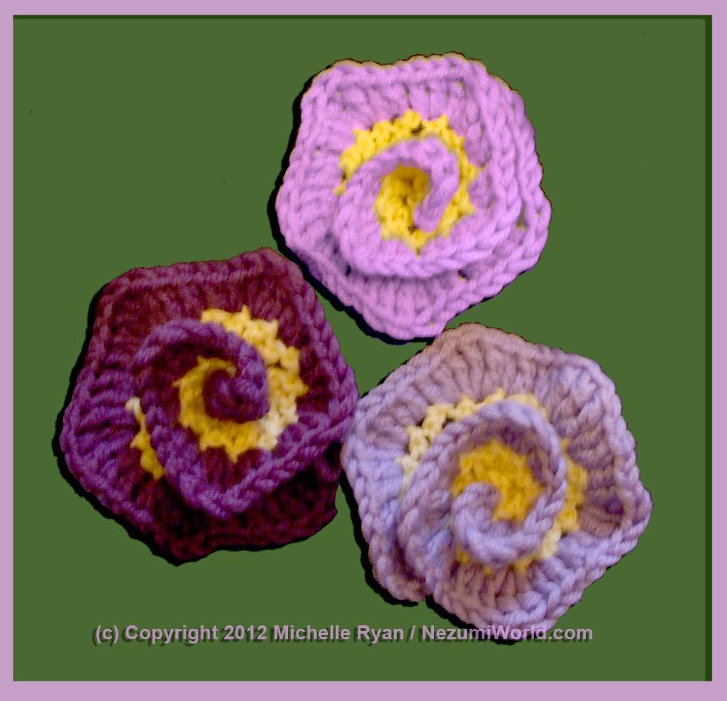 NezumiWorld Blog: Spiral Flower - International Crochet ...