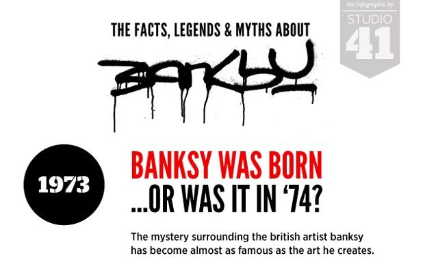 Image: The Facts, Legends and Myths About Banksy #infographic