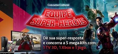 """Concurso Cultural """" Equipe de Super Heróis """" - Sky"""
