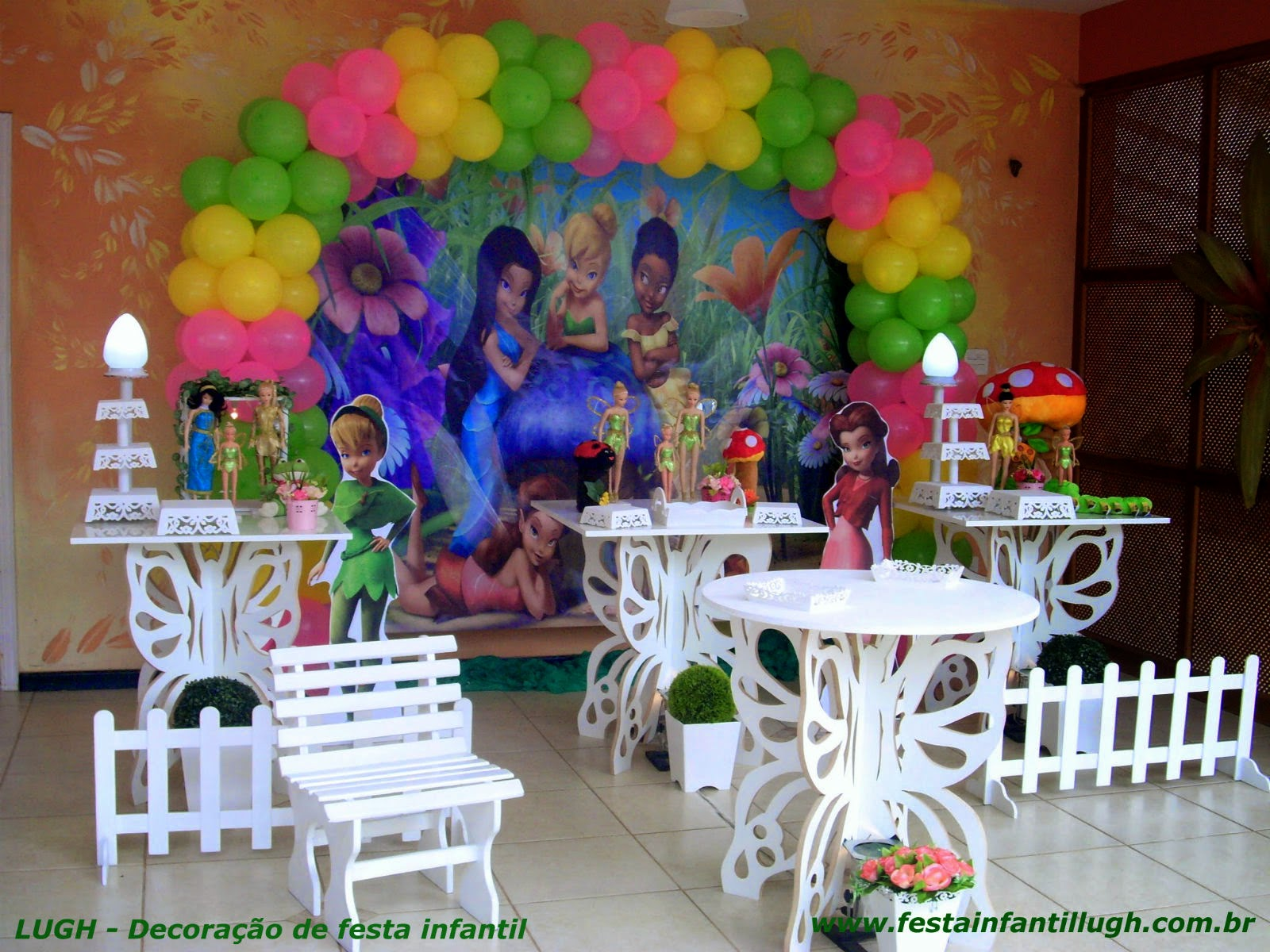 festa infantil -  decoração para festa de aniversário da Sininho