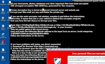 Fondo de pantalla de Cryptolocker