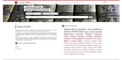 Nuevo Catálogo Colectivo de la Red de Bibliotecas Universitarias REBIUN.
