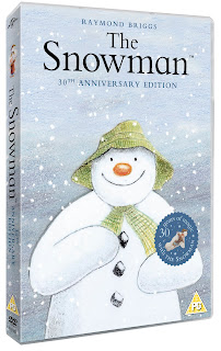 The Snowman 30th Anniversary edition DVD, The Snowman DVD giveaway, Snowman Beanie toy