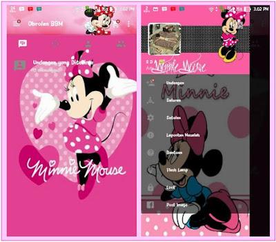 BBM MOD Pink Tema Minnie Mouse New Versi 2.12.0.9 Clone