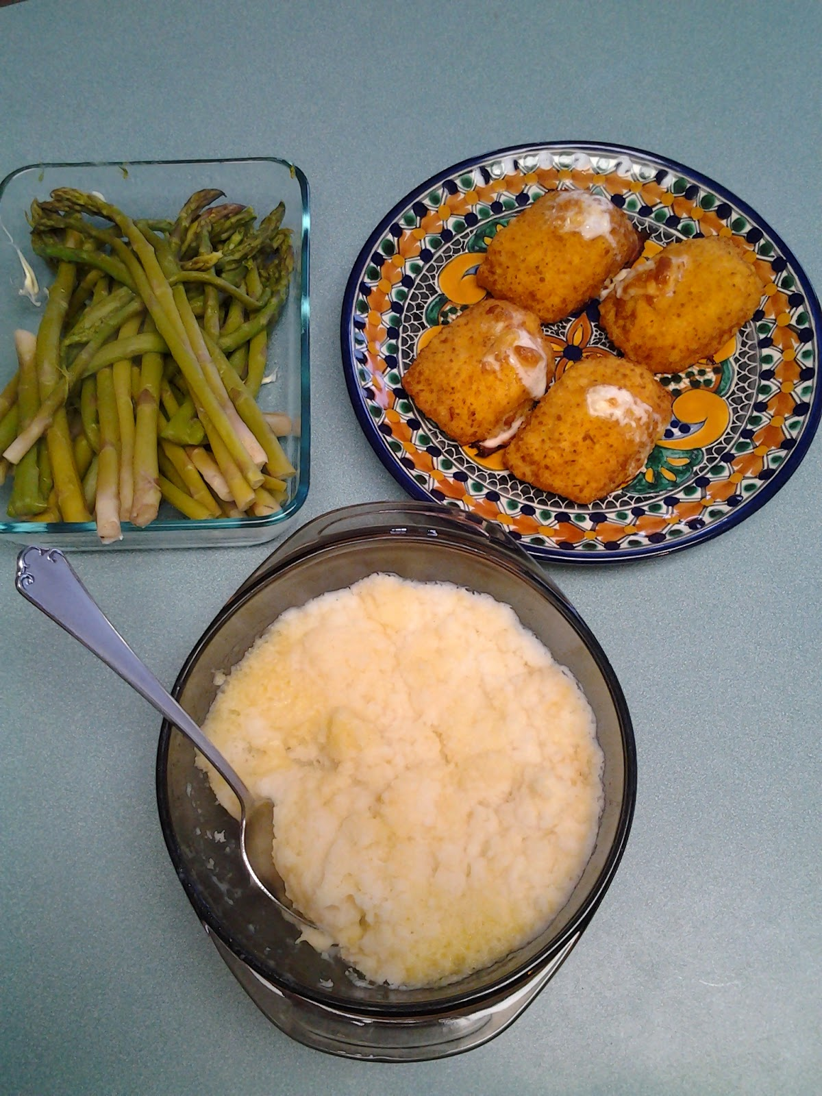 My Stockpile Supper - en Cordon Bleu with Asparagus and Mashed ... on microwave chicken, microwave grits, microwave pie, microwave baked potatoes, microwave red potatoes, yams vs sweet potatoes, microwave seasoned potatoes, microwave sweet potatoes, microwave scalloped potatoes, microwave boiled potatoes, microwave pot roast, microwave baby potatoes, microwave potato recipes, microwave cornbread, microwave lasagna, microwave baked potato plastic wrap, microwave hash brown potatoes, microwave peach cobbler, crazy potatoes, butter gold potatoes,