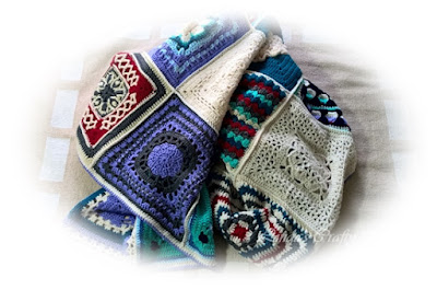 Blanket Afghan crochet blocks  squares