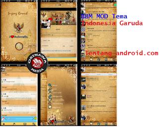 BBM Mod Tema I Love Indonesia  Tercinta versi 2.8.0.21 Apk