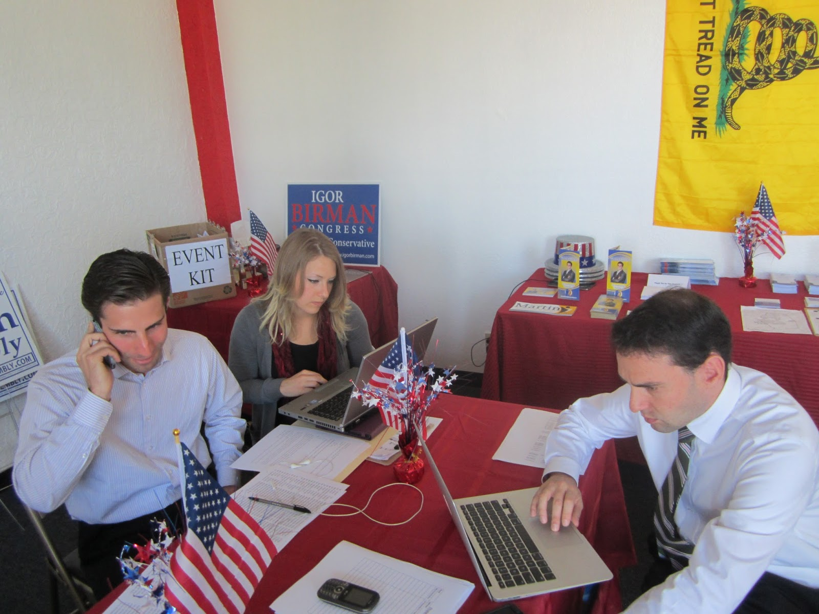 Volunteers Man Phone-Banks, Walk Precincts For Birman and Martin