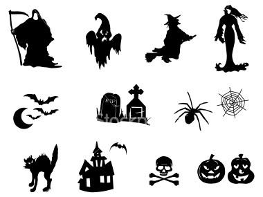 Halloween - papelaria - negativos
