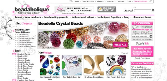 Beads Crystal Beads & Components at BeadAholique.com