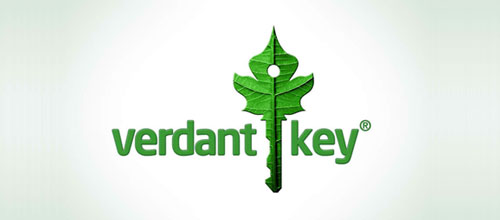 Verdant Key logo green awesome