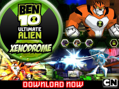 cover game Ben 10 Ultimate Alien Xenodrome Si Pembasmi Alien