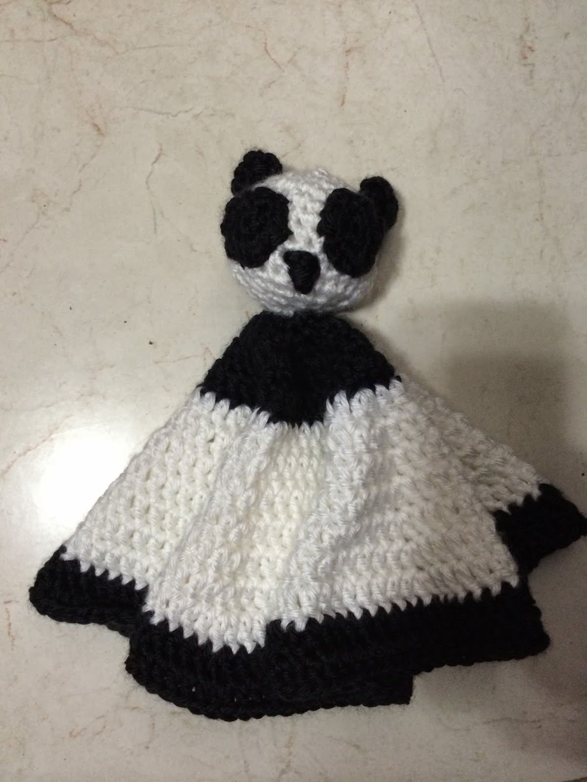 Crochet Panda Baby Security Blanket | Not My Nana\'s Crochet!