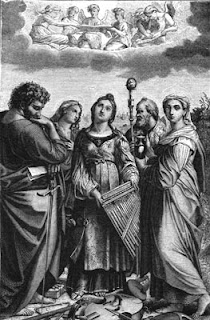 Saint Cecilia Listening to the Singing of Angels - Painting by Rafael Sanzio