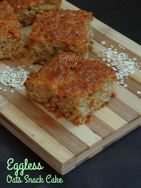 Eggless Oats & buttermilk snack cake