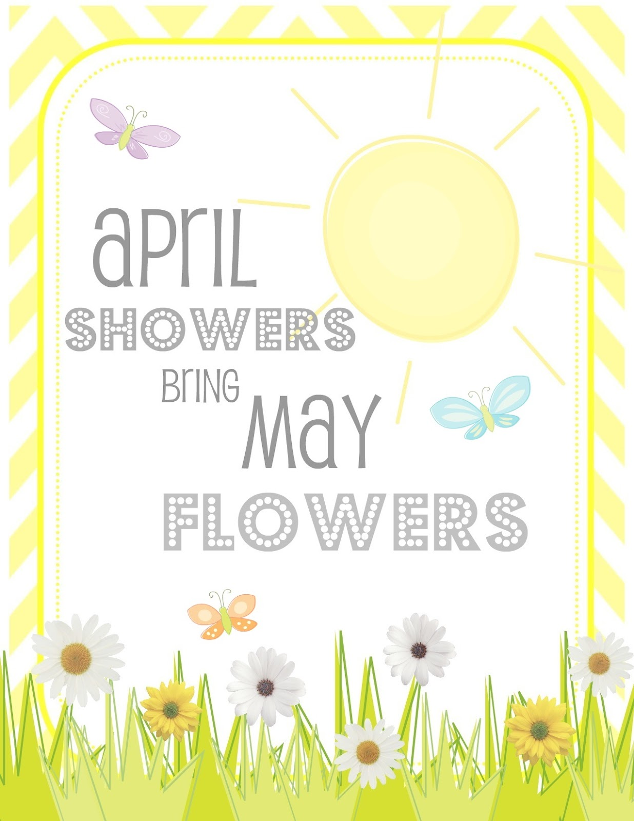 free printable april showers bring may flowers printable creative