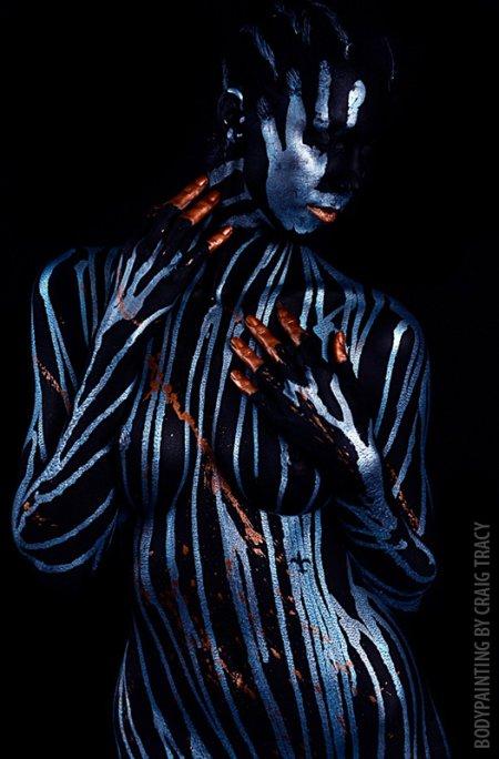 craig tracy body painting pintura corporal mulheres nuas