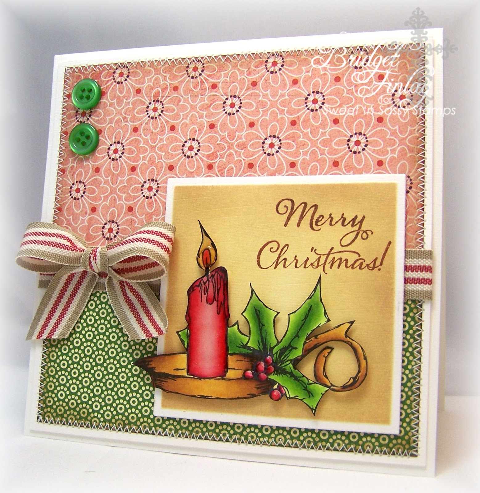 Sweet n sassy stamps a merry christmas candle