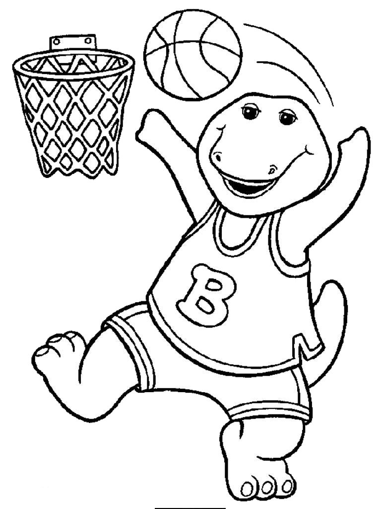 Printable coloring pages basketball - Sports