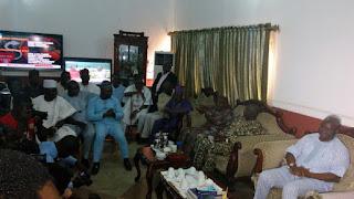 Gov Fayose Visits Aregbesola In Osun State, Hugging Ensues (Photos)