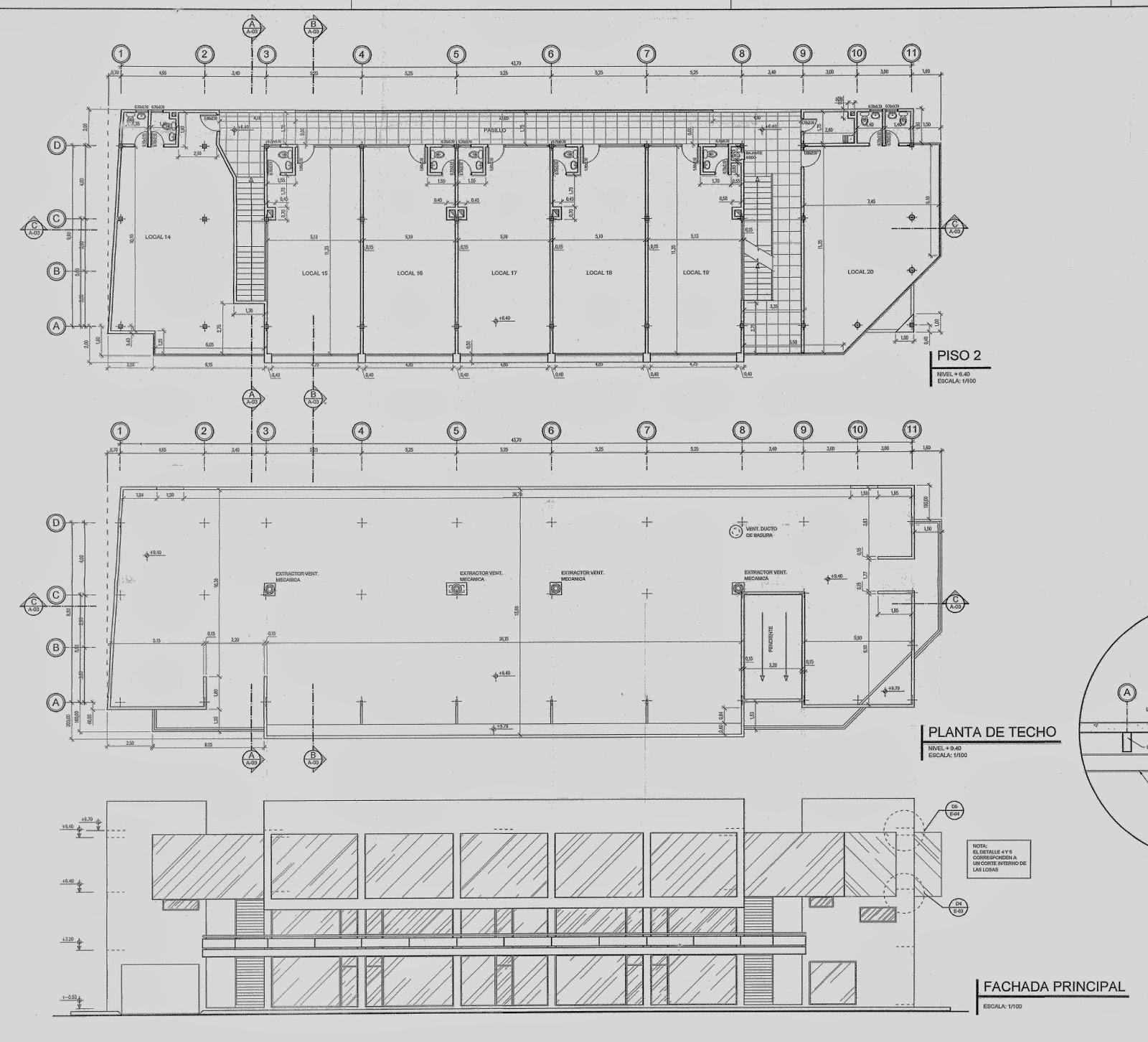 Medidas de los locales comerciales cc las flores cagua for Medidas en arquitectura pdf