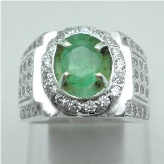 Cincin Batu Permata Zamrud asli natural emerald beryl, jual harga