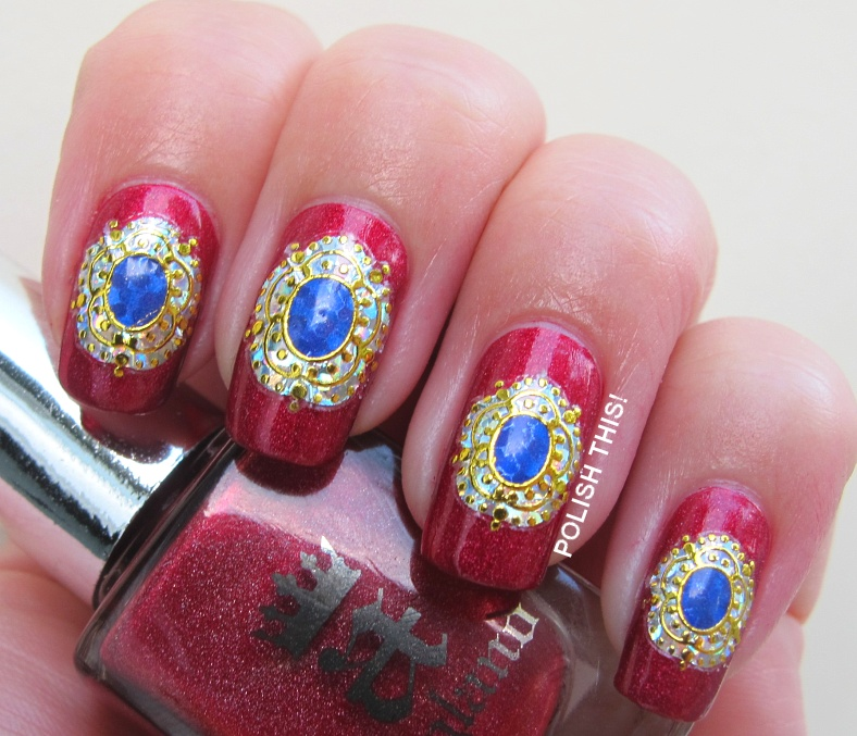 a-england Rose Bower with BPS nail stickers - Polish This!
