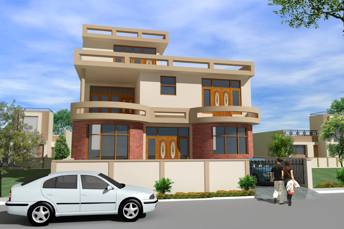 House Front Elevations With Pillars | Joy Studio Design Gallery - Best ...