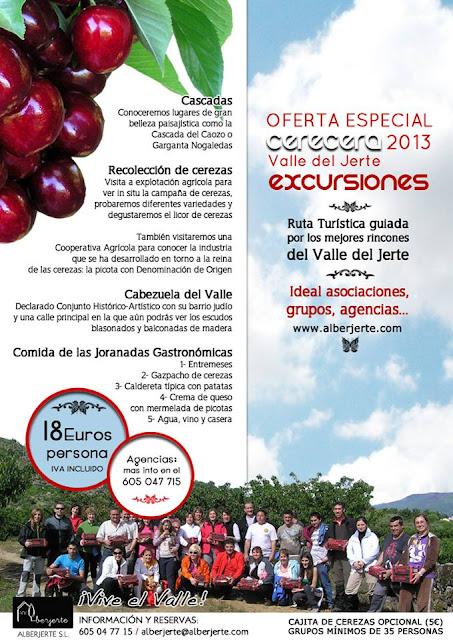 Excursiones para grupos al Valle del Jerte cerecera 2013
