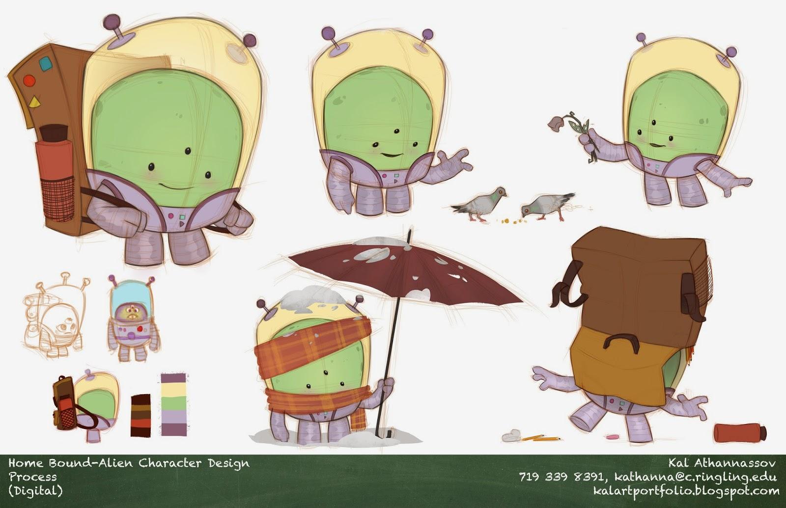 Vusual dev Alien Character Design