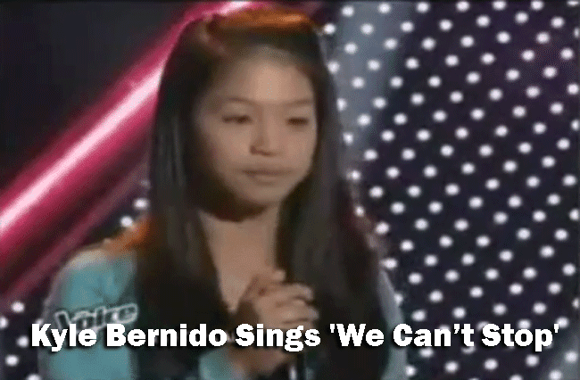 Kyle Bernido Sings 'We Can't Stop' on The Voice Kids Blind Audition