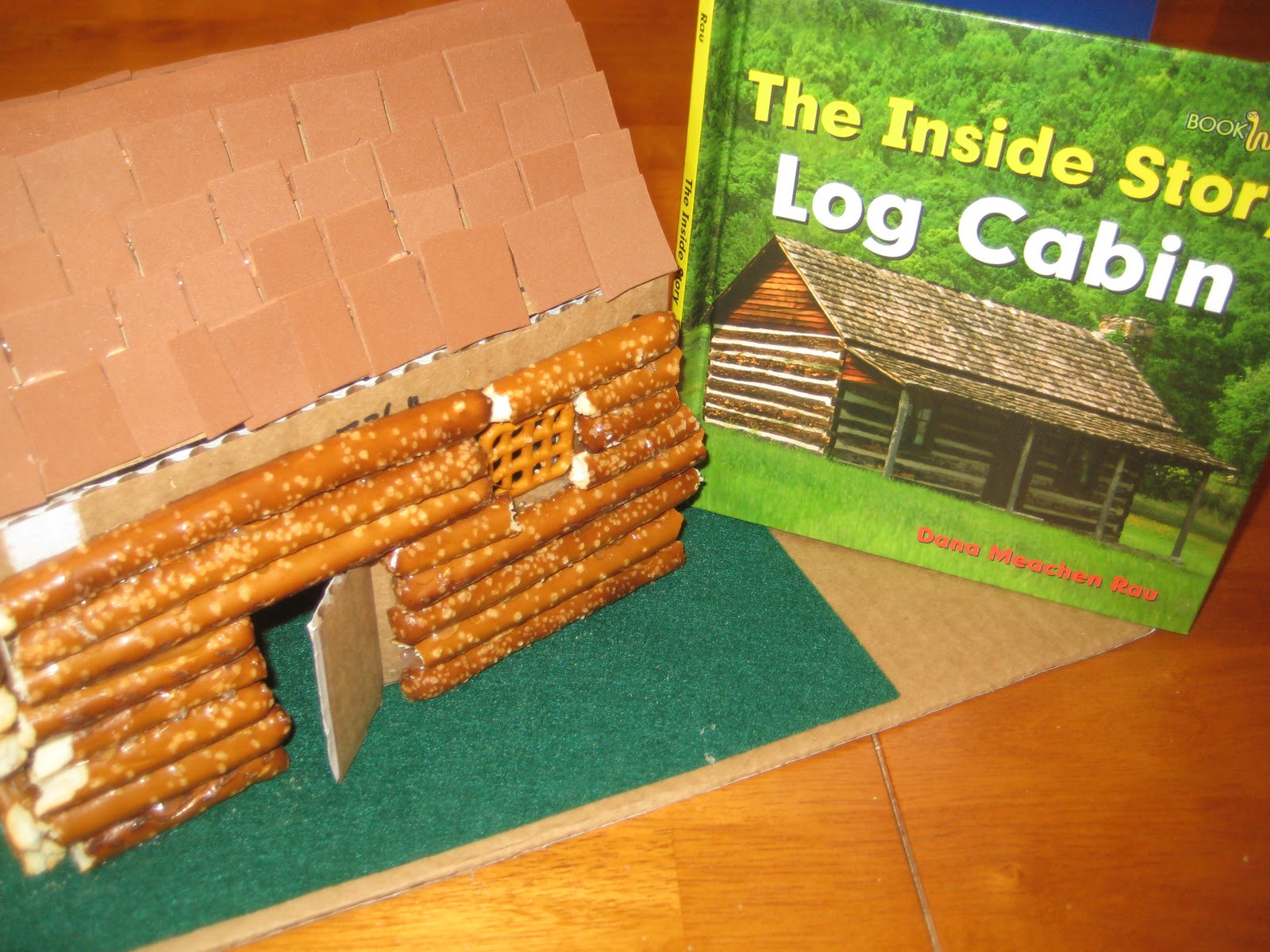 Relentlessly fun deceptively educational pretzel rod for Log cabin project
