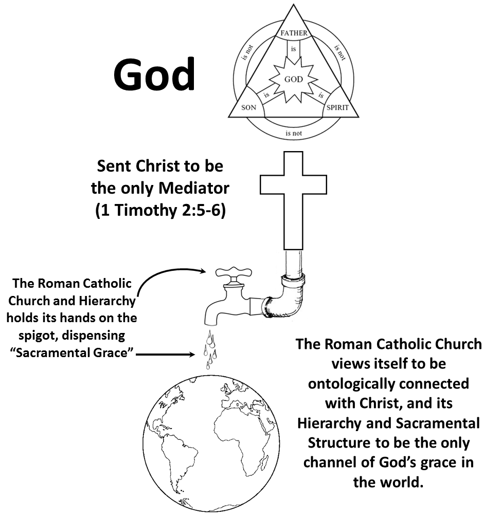 Compare and contrasting the Protestant church and the Catholic Church?
