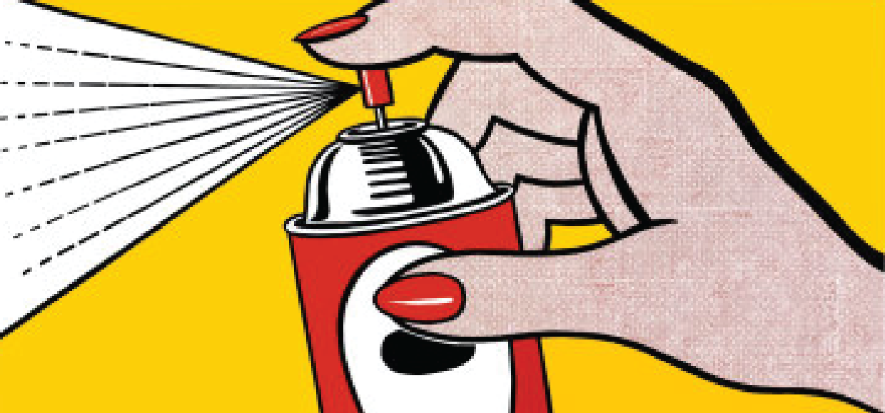 Roy Lichtenstein First Pop Art Painting