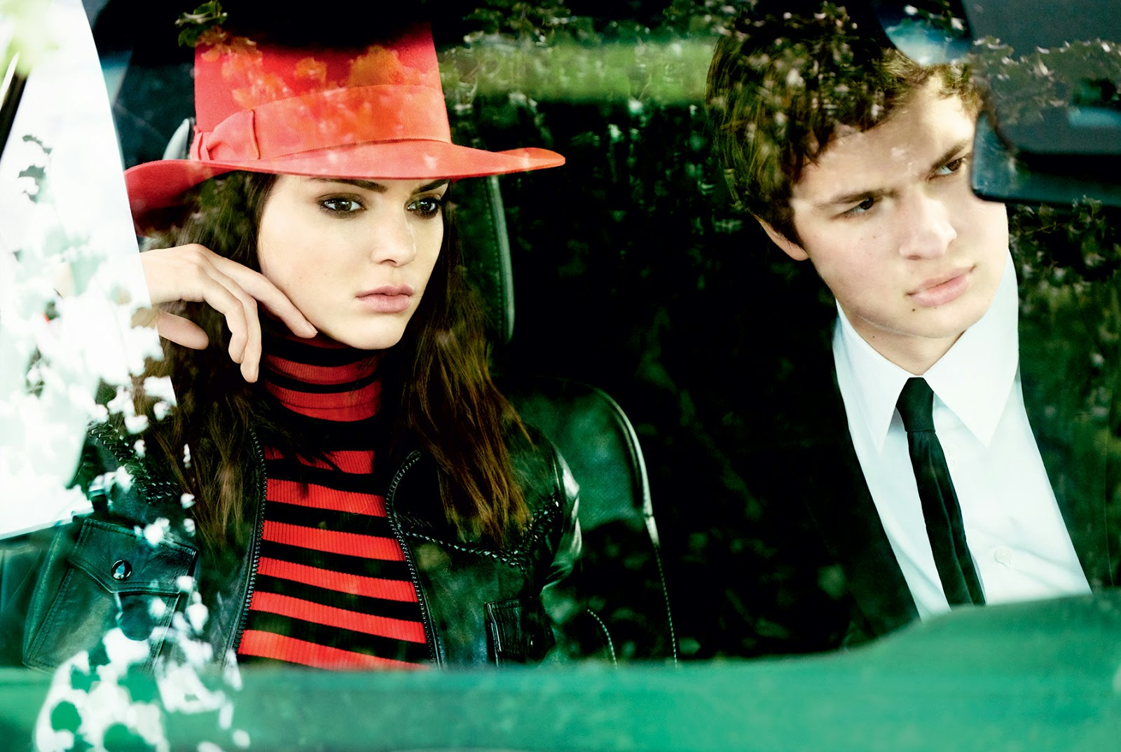 Kendall Jenner and Ansel Elgort for Vogue US