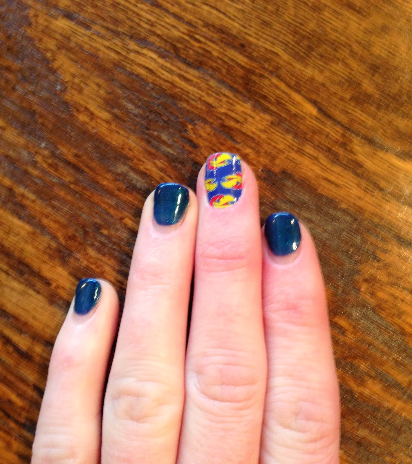 Jayhawk nails, OPI Russian Navy