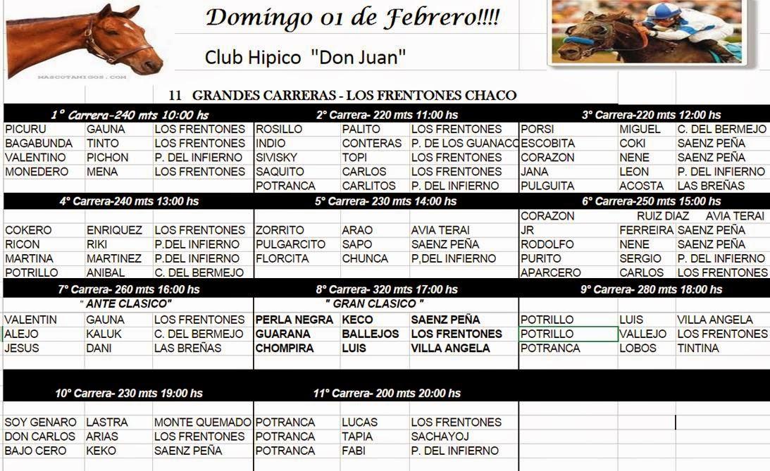 LOS FRENTONES PROGRAMA